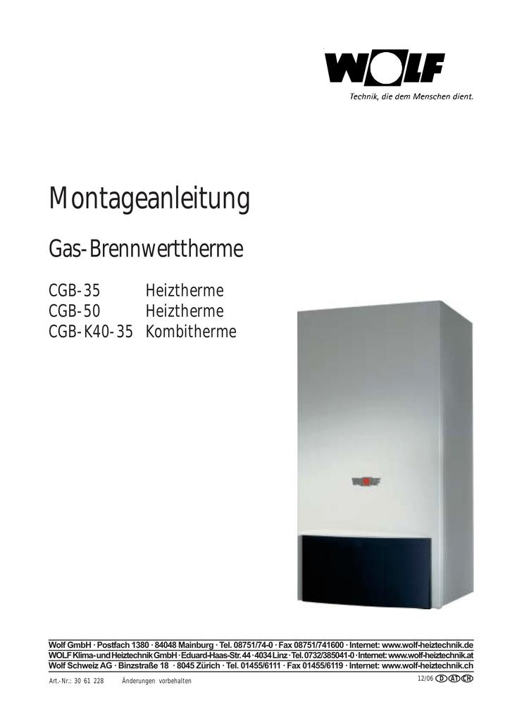 Montageanleitung CGB 35–50 | manualzz.com