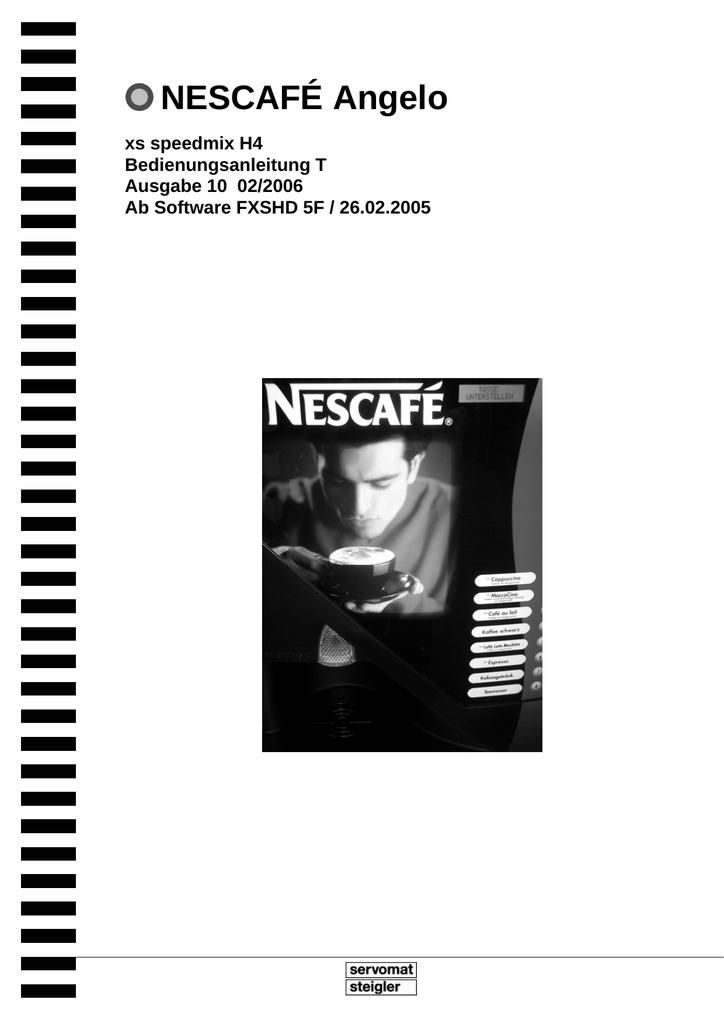 Bedienungsanleitung Angelo Nescafe Manualzzcom