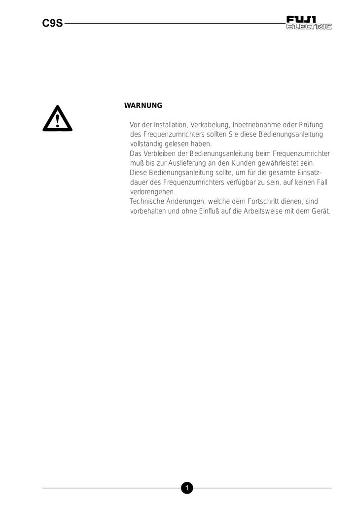 C9S - Fuji Electric   manualzz.com