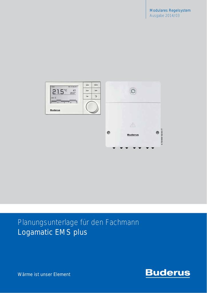 Planungsunterlage für den Fachmann Logamatic EMS plus | manualzz.com