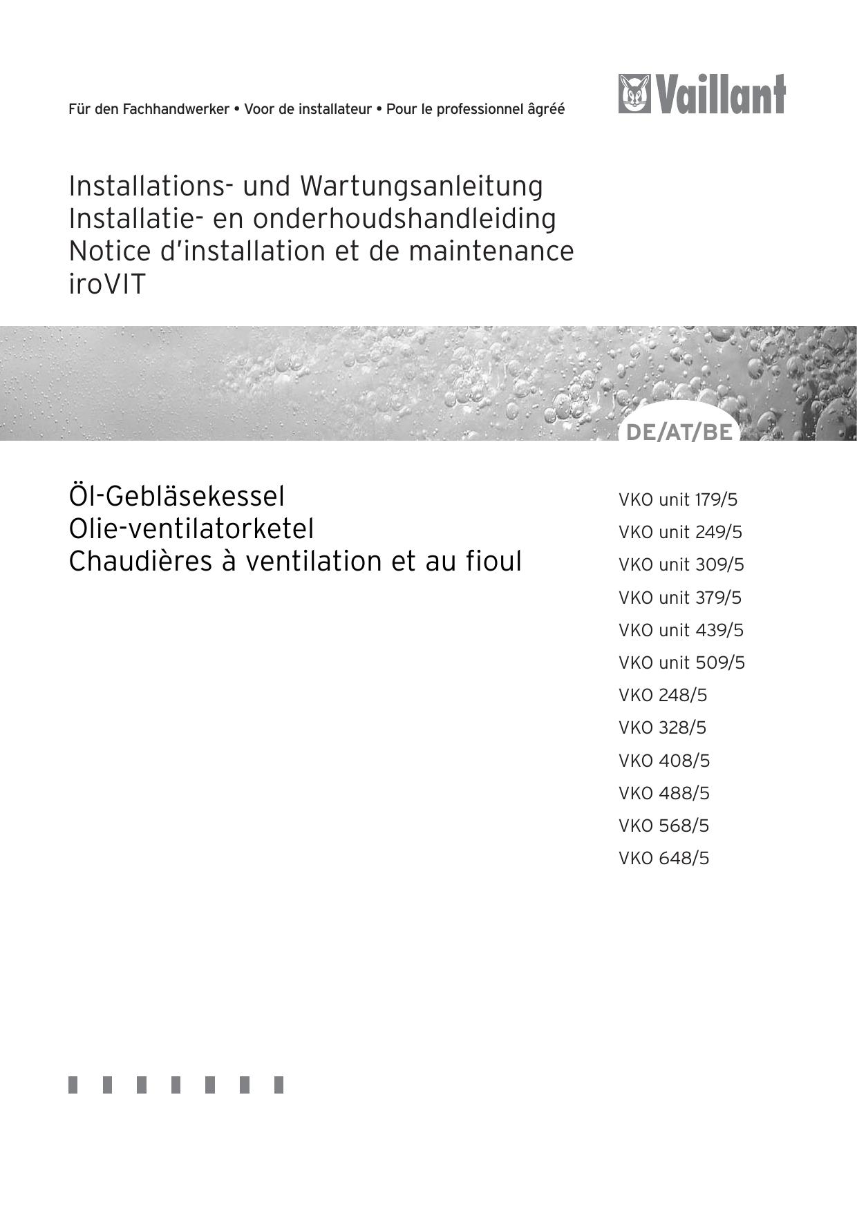 Installations- und Wartungsanleitung Installatie- en   manualzz.com