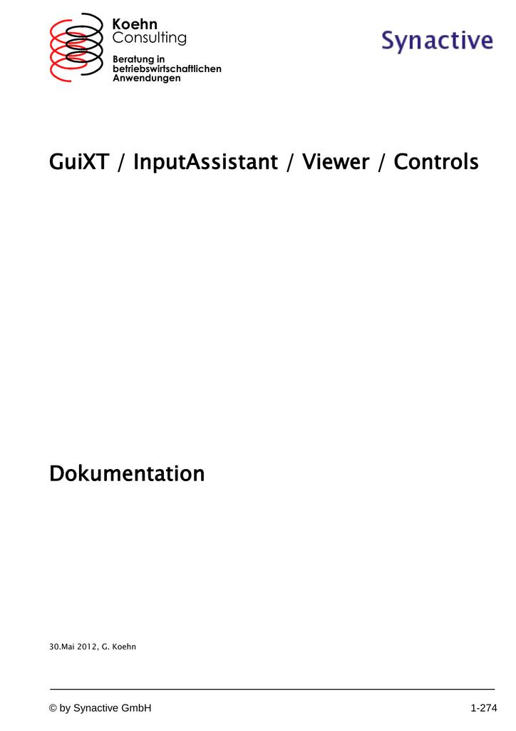 GuiXT / InputAssistant / Viewer / Controls Dokumentation
