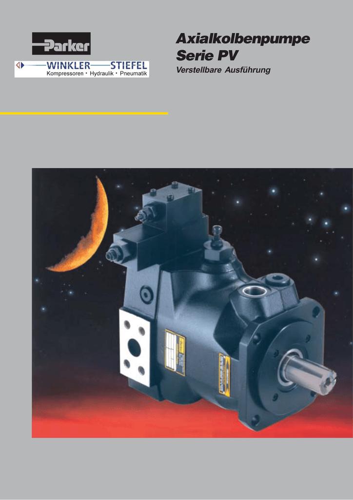 Axialkolbenpumpe Serie PV - Winkler-Stiefel Hydraulik | manualzz.com