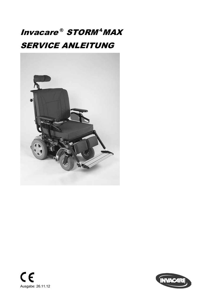 Invacare ® STORM 4MAX SERVICE ANLEITUNG | manualzz.com