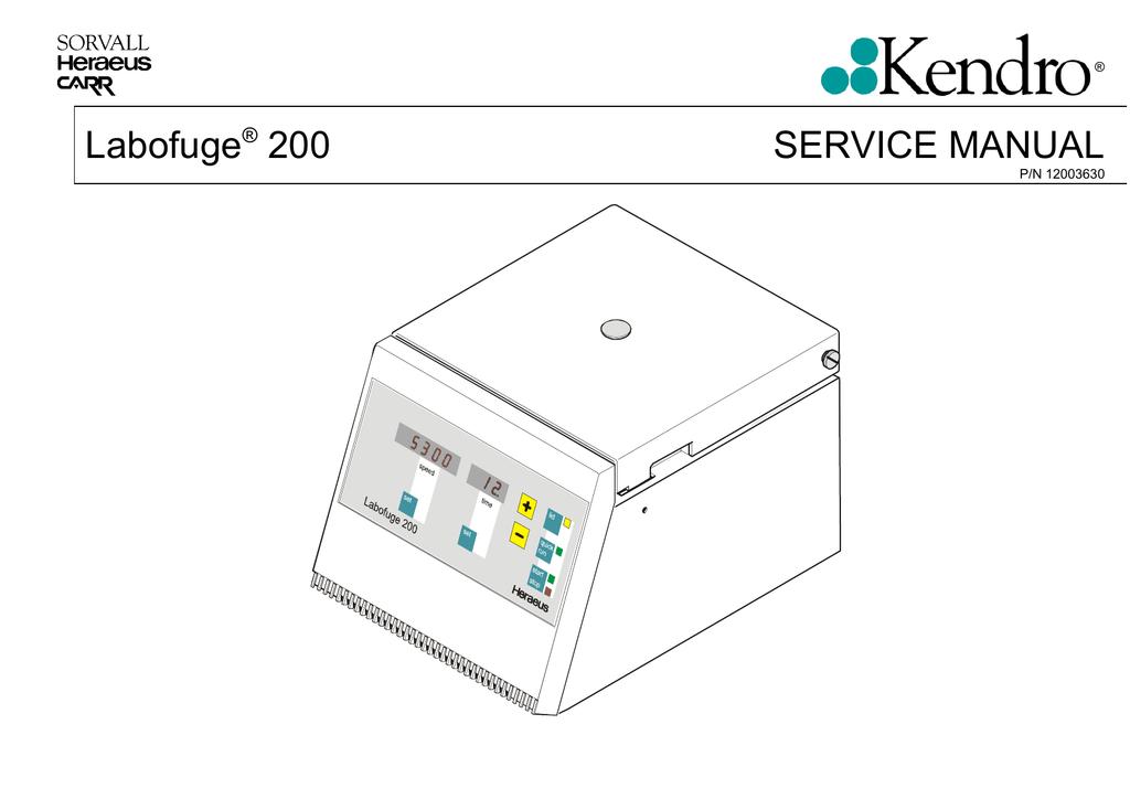 Labofuge® 200 SERVICE MANUAL | manualzz.com on