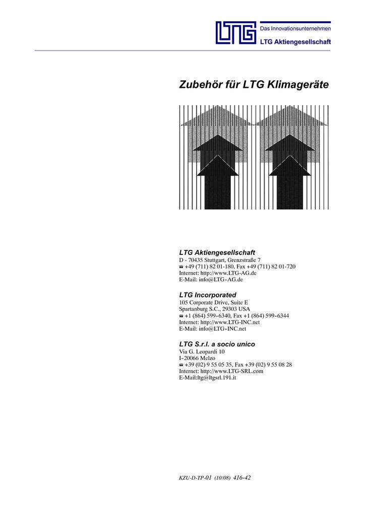 Zubehör für LTG Klimageräte | manualzz.com