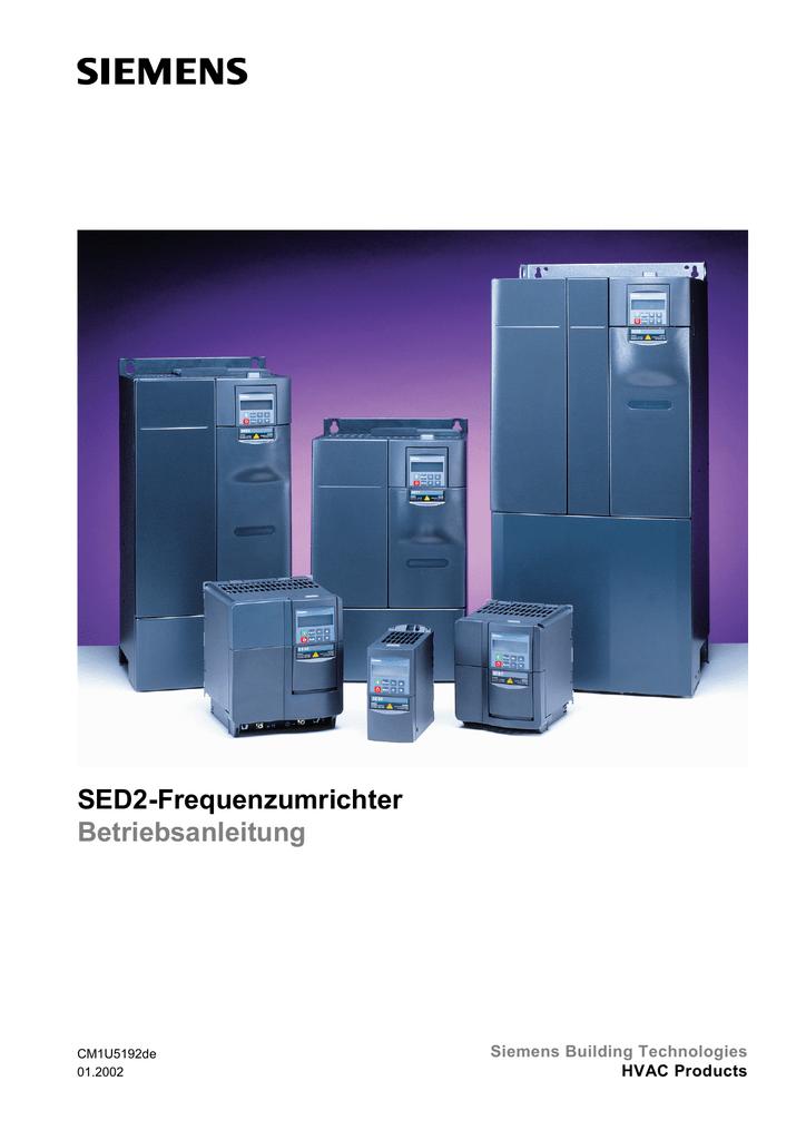 SED2-Frequenzumrichter Betriebsanleitung Siemens Building ...