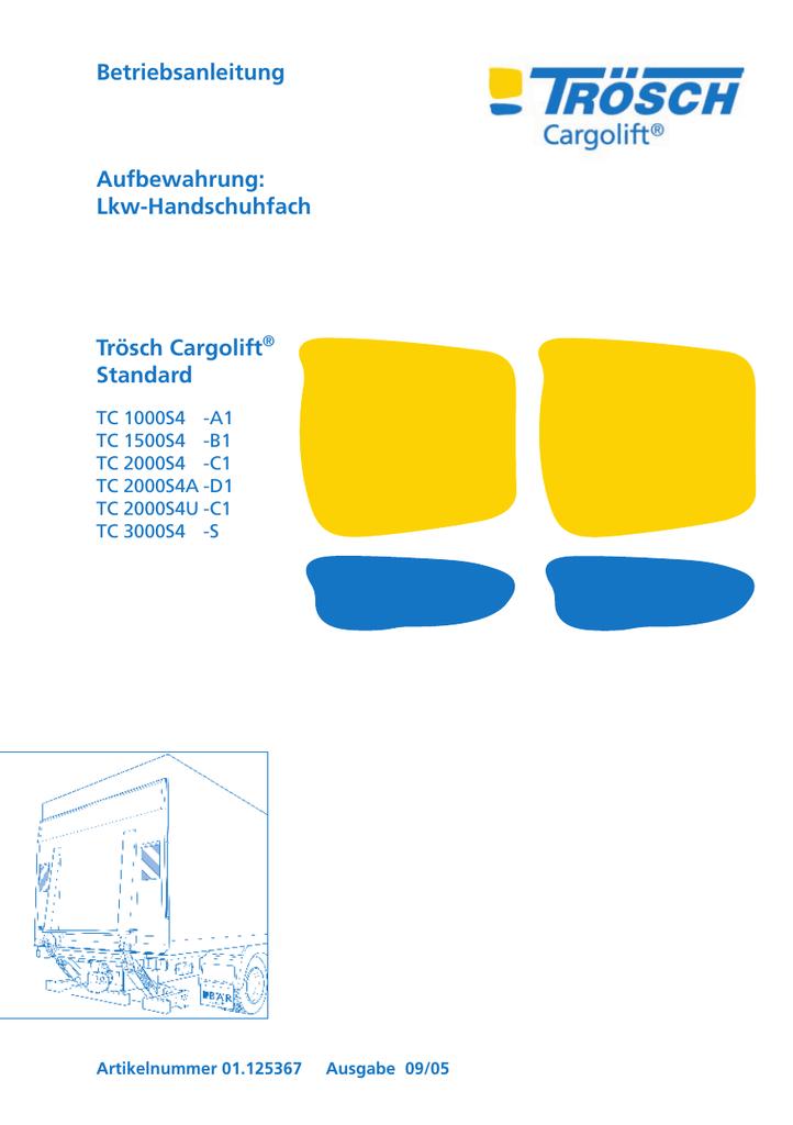 Betriebsanleitung Aufbewahrung: Lkw-Handschuhfach | manualzz.com
