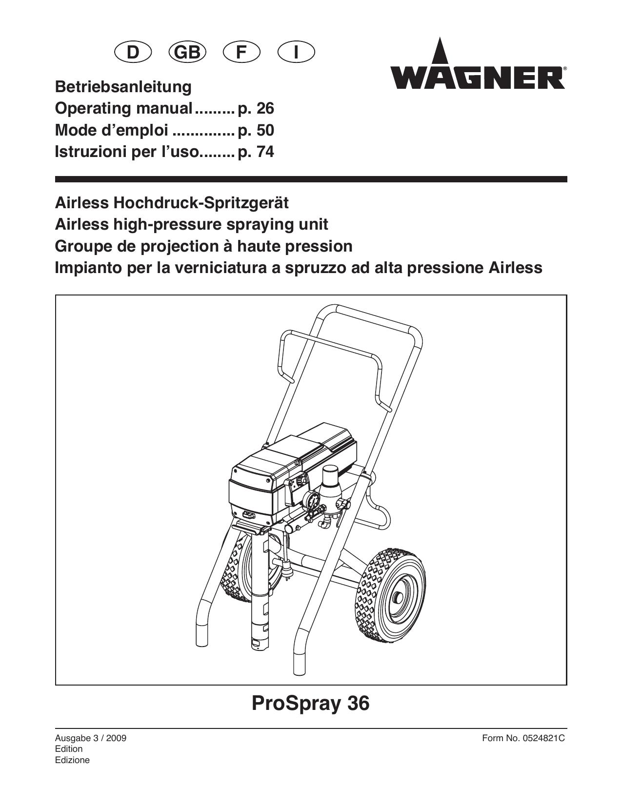 Wagner Ps36 Airless Sprayers Spray Equipment Motor Wiring Diagram