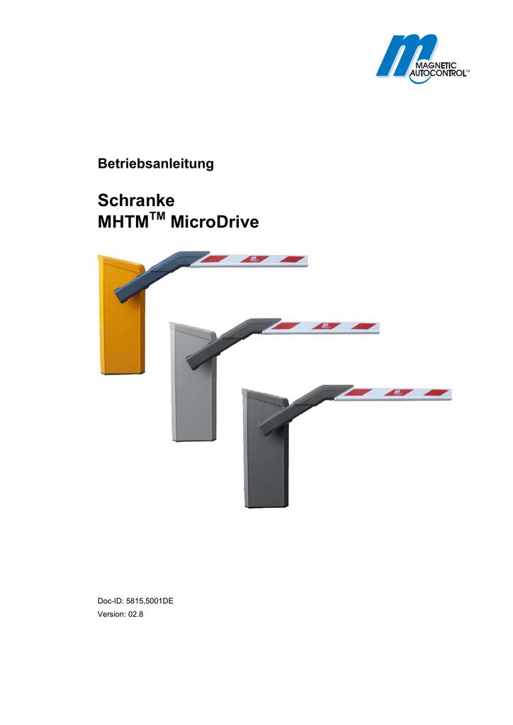 Technisches Handbuch Schranke Omega60MD | manualzz.com