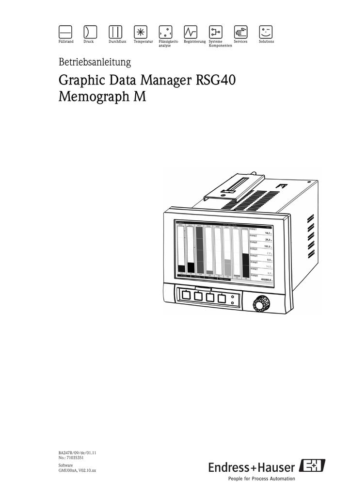 Graphic Data Manager RSG40 Memograph M | manualzz.com