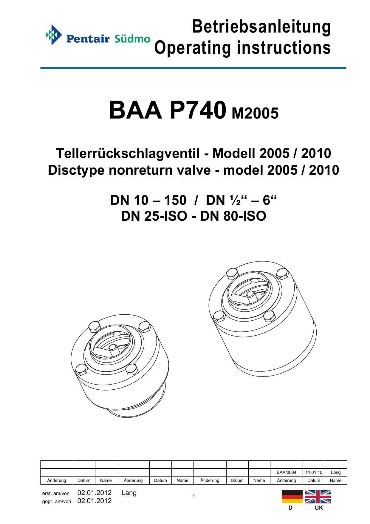 BAA P740M2005 | manualzz.com