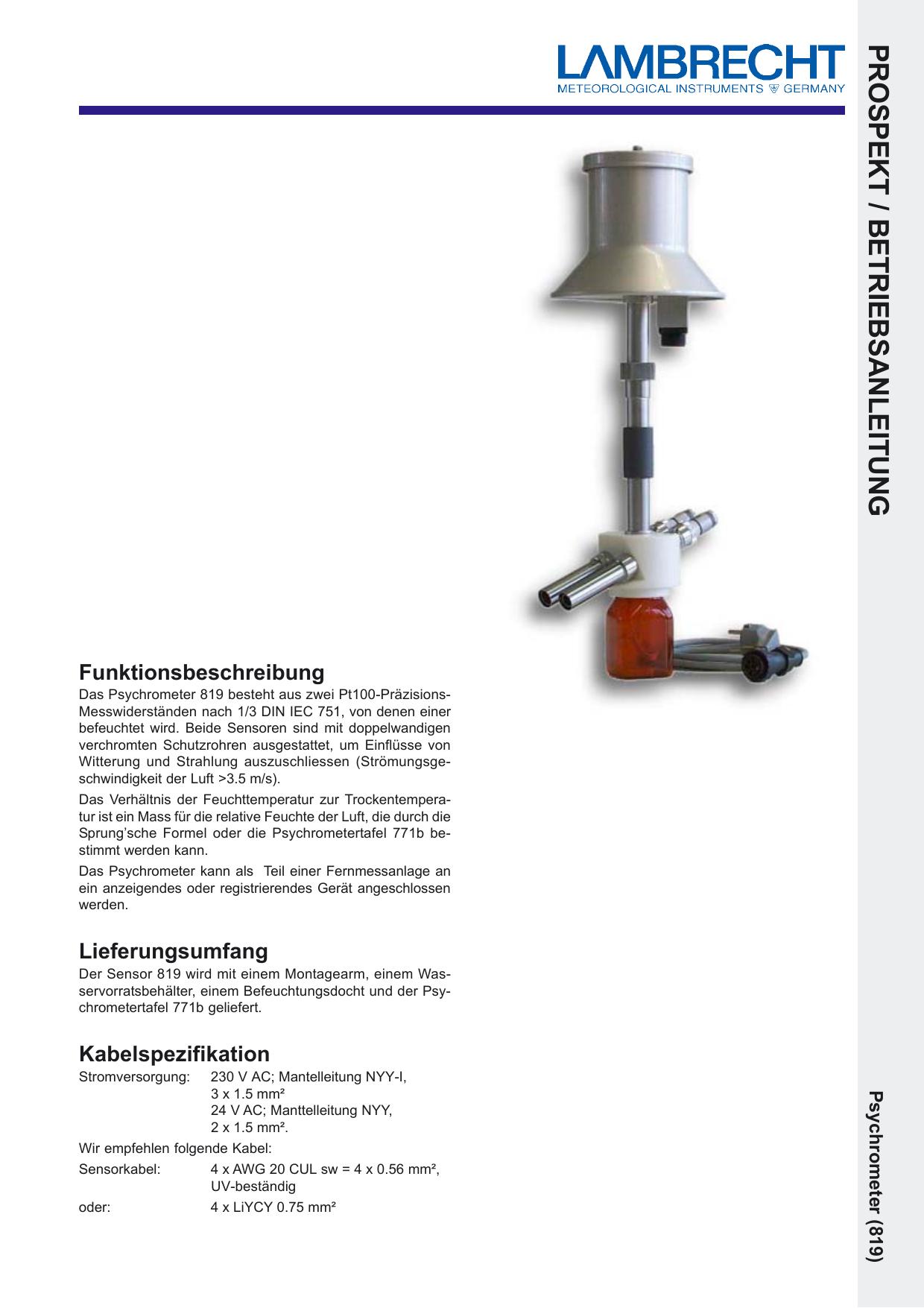 Psychrometer 819 pb-d   manualzz.com