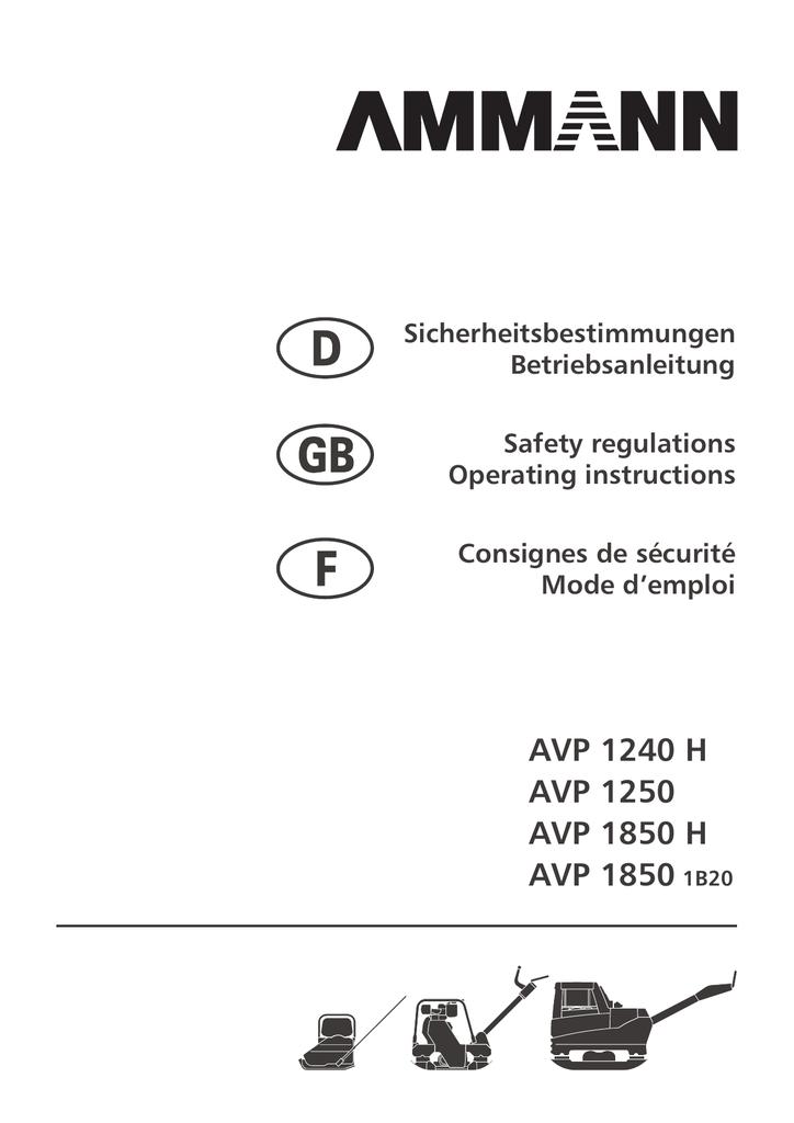 AVP 1240 H AVP 1250 AVP 1850 H AVP 1850 1B20 |
