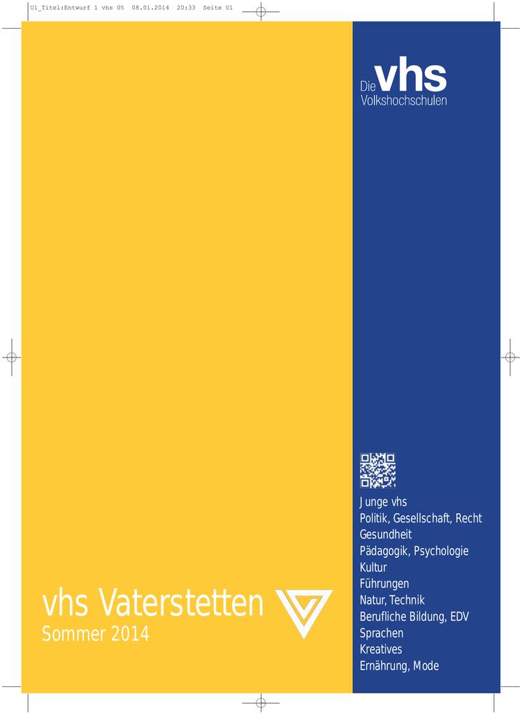 Gesundheit - vhs Vaterstetten | manualzz.com