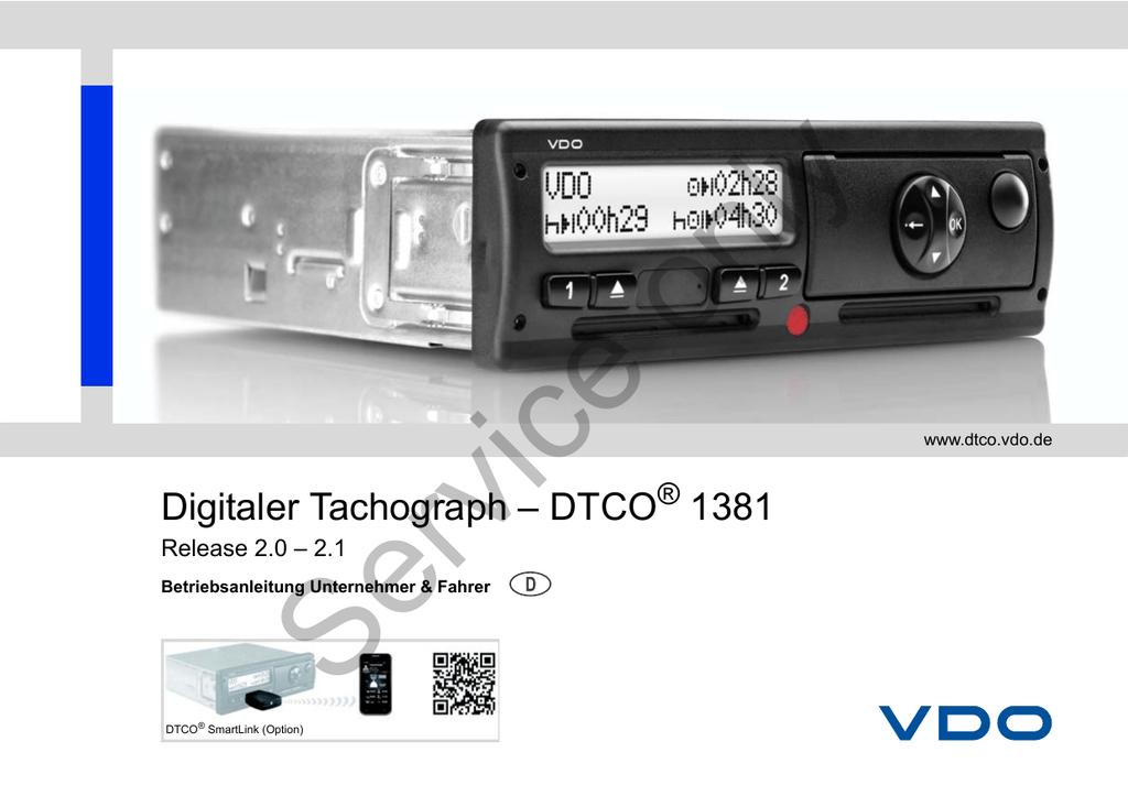 ausdruck digitaler tachograph