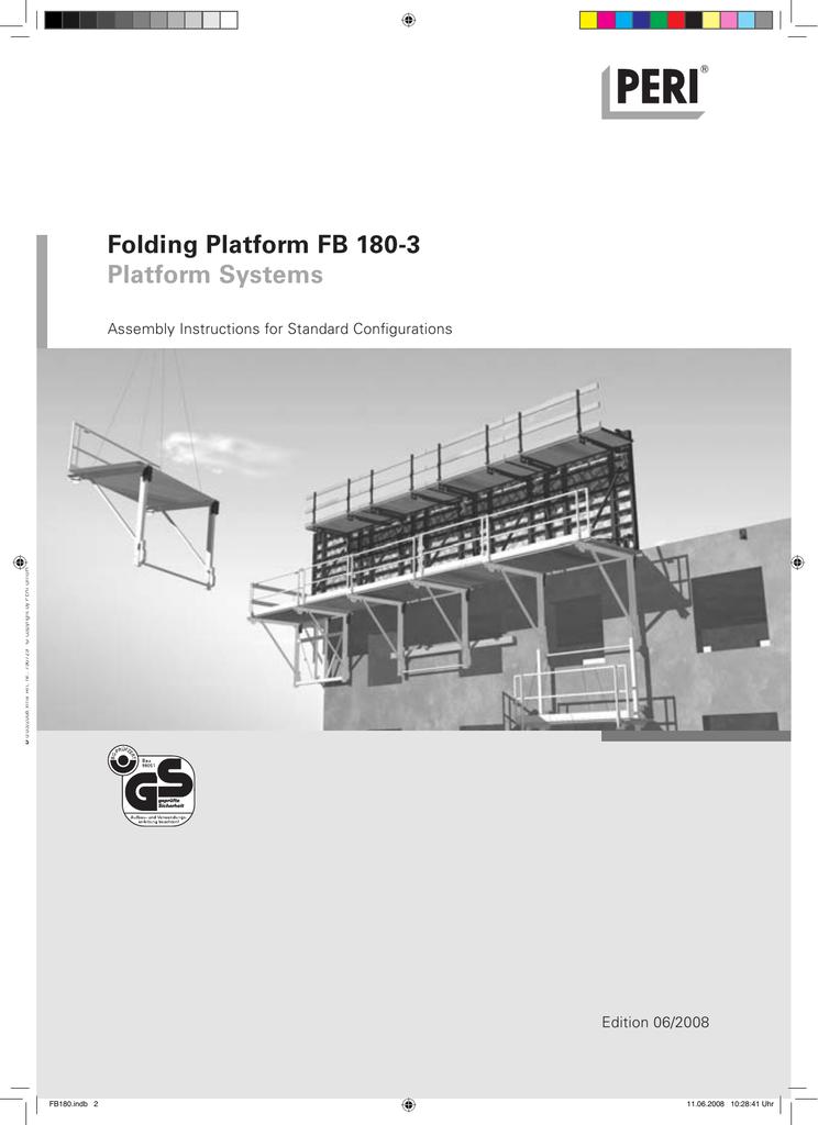 Folding Platform FB 180-3 Platform Systems | manualzz com