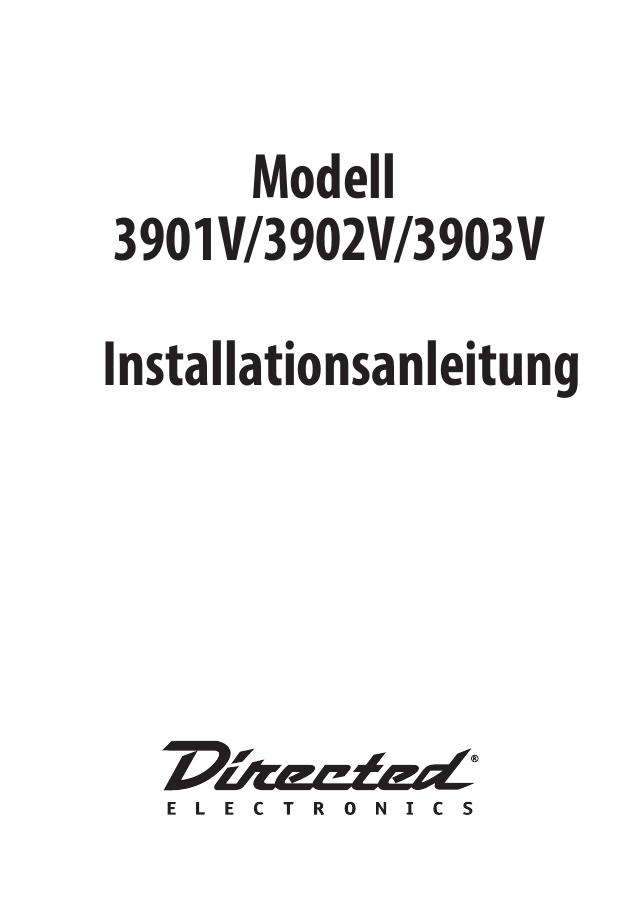 Modell 3901V/3902V/3903V Installationsanleitung | manualzz.com