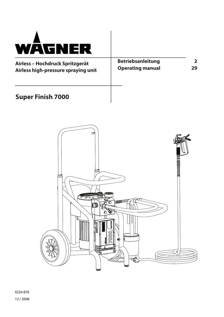 Super Finish 7000 - Wagner SprayTech USA | manualzz.com on