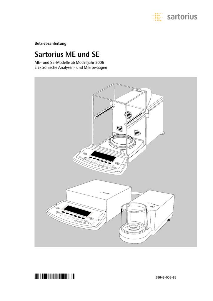 Sartorius ME und SE | manualzz.com