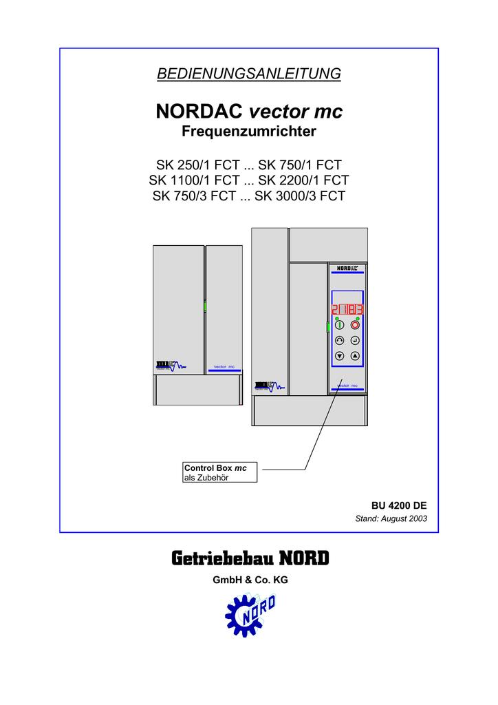 BEDIENUNGSANLEITUNG NORDAC vector mc Frequenzumrichter | manualzz.com