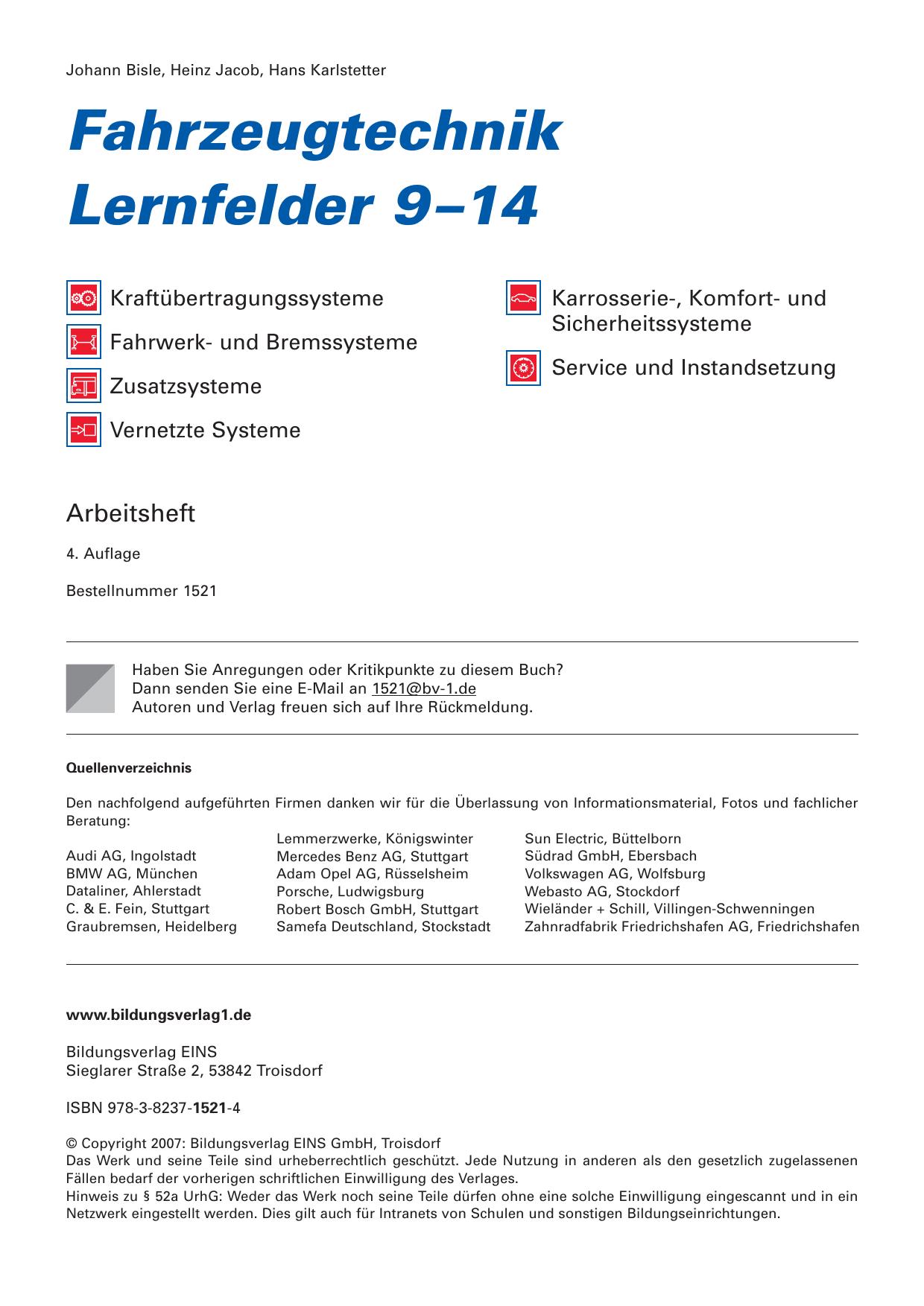 Fahrzeugtechnik Lernfelder 9–14 | manualzz.com