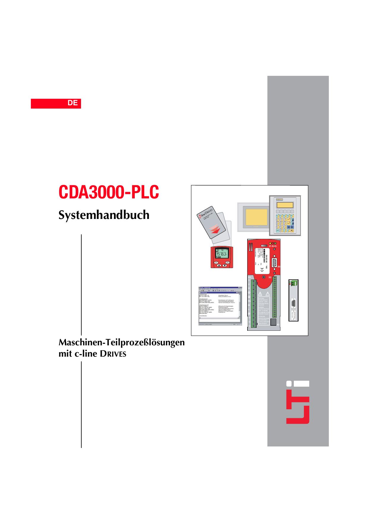 CDA3000-PLC Maschinen-Teilprozeßlösungen mit c | manualzz.com