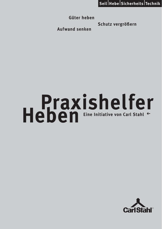Praxishelfer Heben - Carl Stahl Hebetechnik | manualzz.com