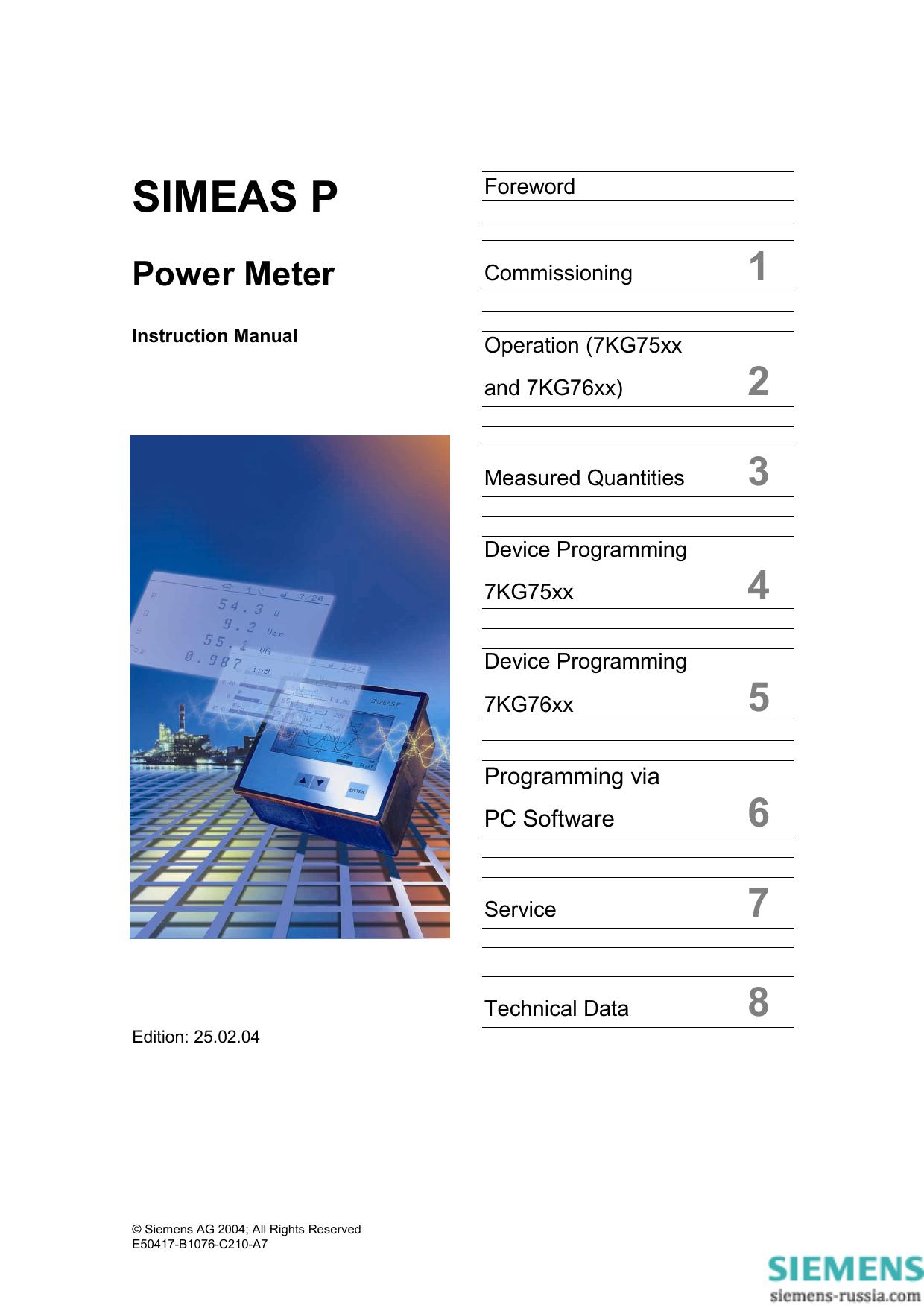 Simeas P Siemens Power Solutions Manualzzcom