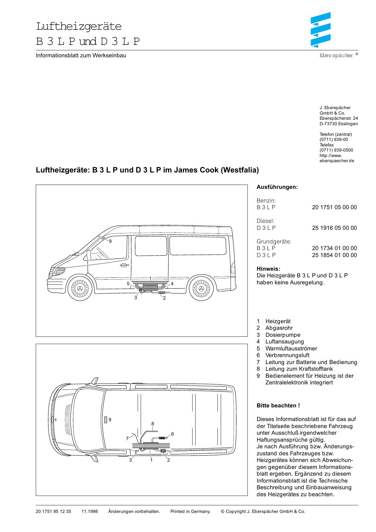 Luftheizgeräte B 3 L P und D 3 L P | manualzz.com