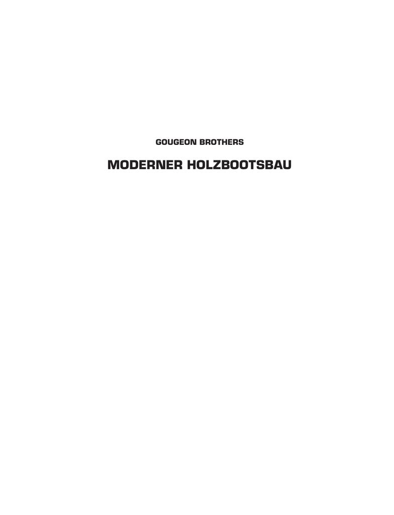MODERNER HOLZBOOTSBAU | manualzz.com