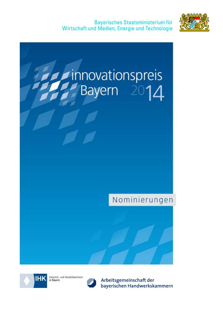 Innovationspreis Bayern 2014 | manualzz.com