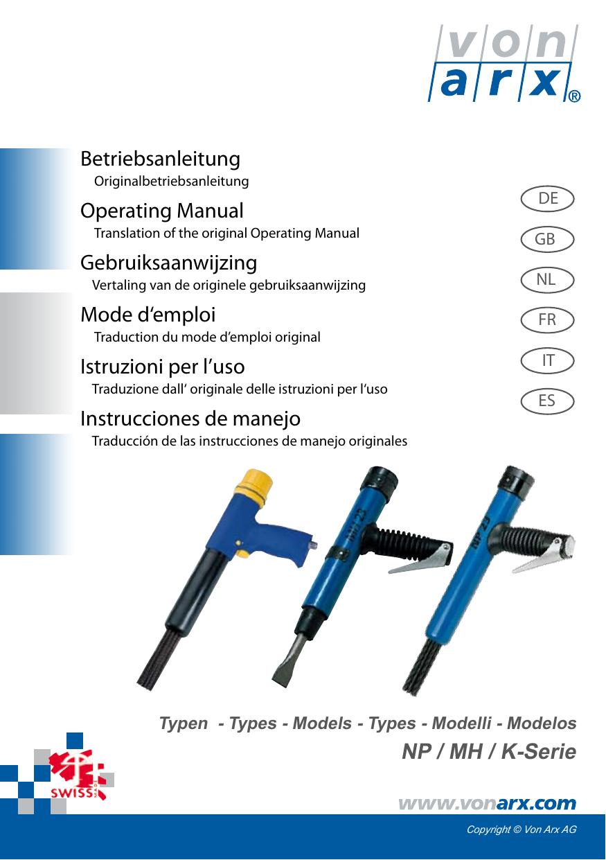 Bocciardatrice Ad Aria.Np Mh K Serie Betriebsanleitung Operating Manual