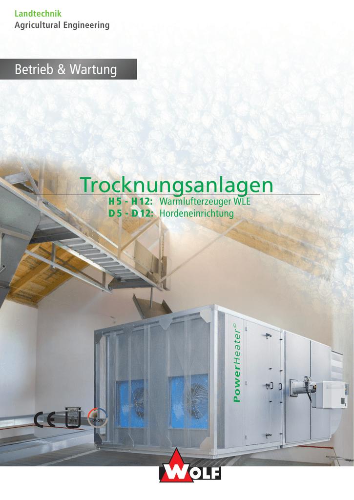 Trocknungsanlagen - Wolf Anlagen   manualzz.com