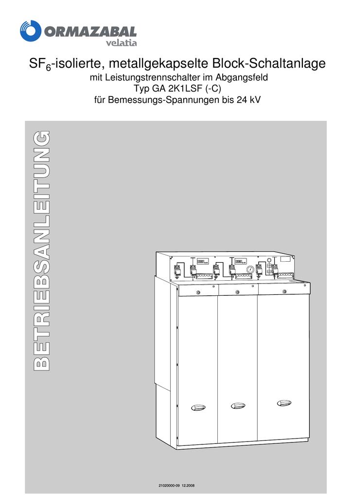 SF -isolierte, metallgekapselte Block-Schaltanlage | manualzz.com