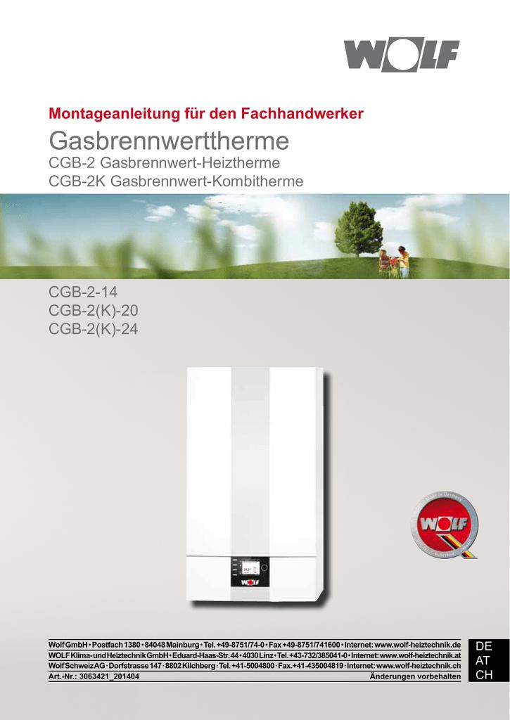3063421 CGB-2(K) - Wolf Heiztechnik | manualzz.com