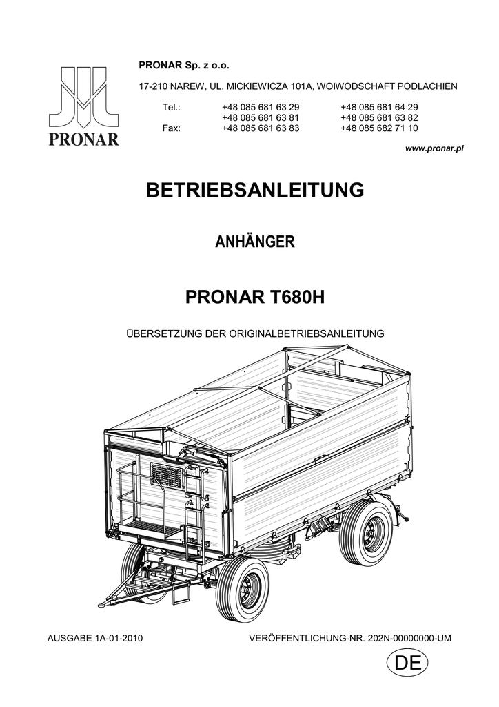 gefahr - Pronar | manualzz.com