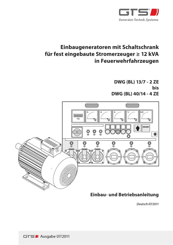 Wunderbar Schaltplan Des Generator Schaltschranks Zeitgenössisch ...