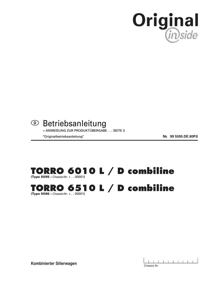 Betriebsanleitung TORRO 6010 L / D combiline TORRO | manualzz.com