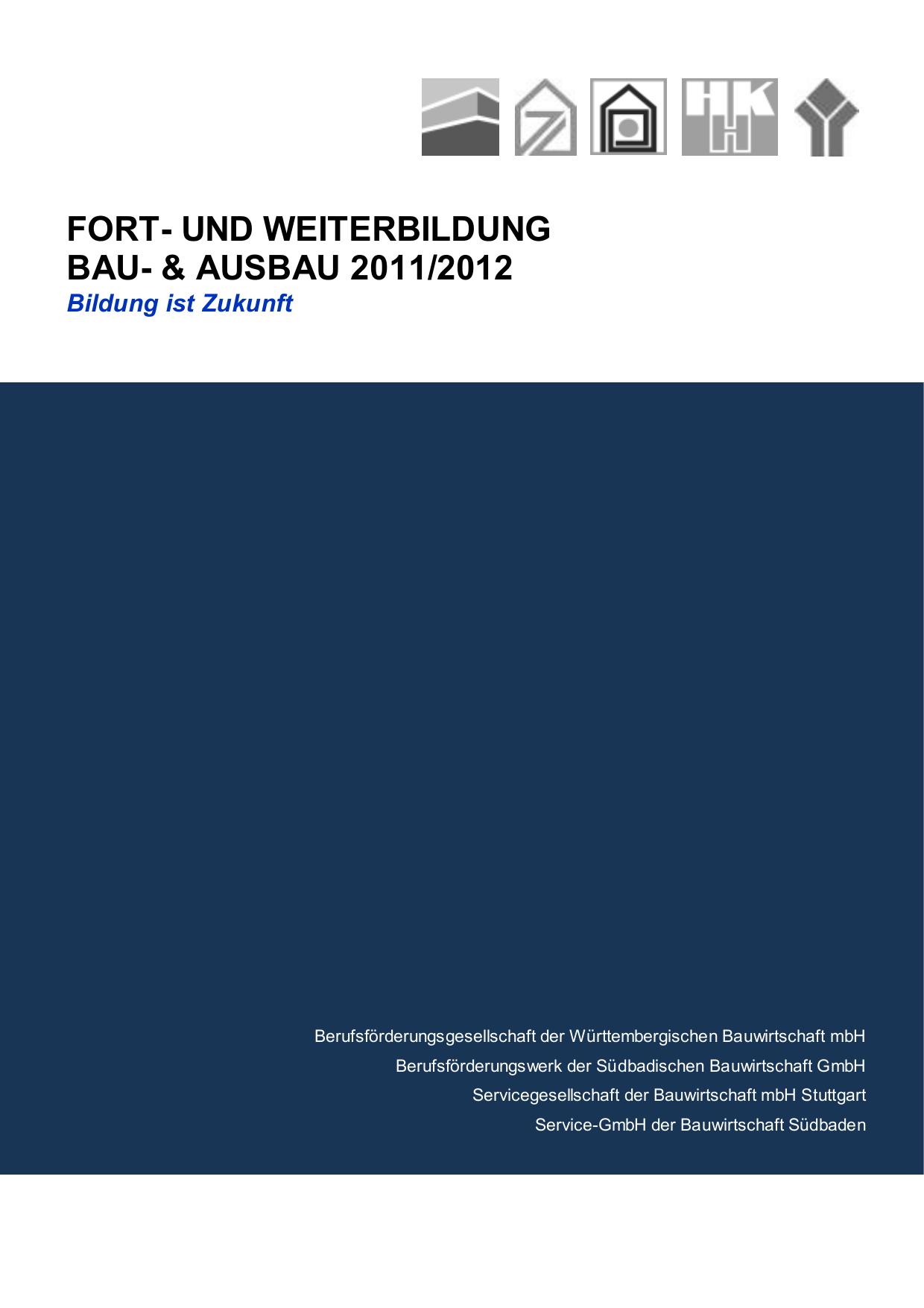 2012 - Berufsförderungswerk der Südbadischen Bauwirtschaft ...