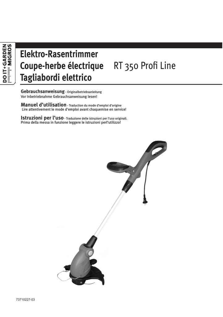 Protezione COPERCHIO GRIZZLY Elektro Tagliaerba ERT 320 TRIMMER kantenscheider