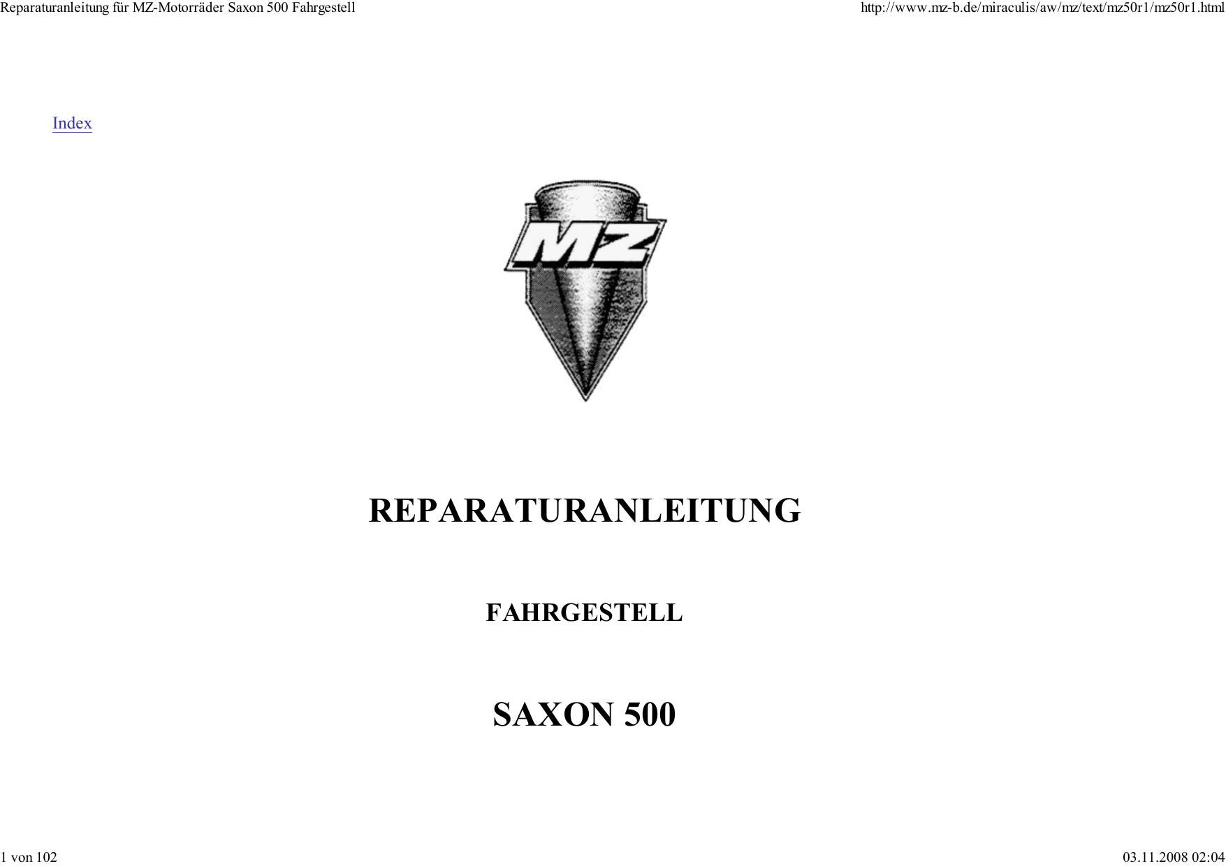 REPARATURANLEITUNG SAXON 500 | manualzz.com