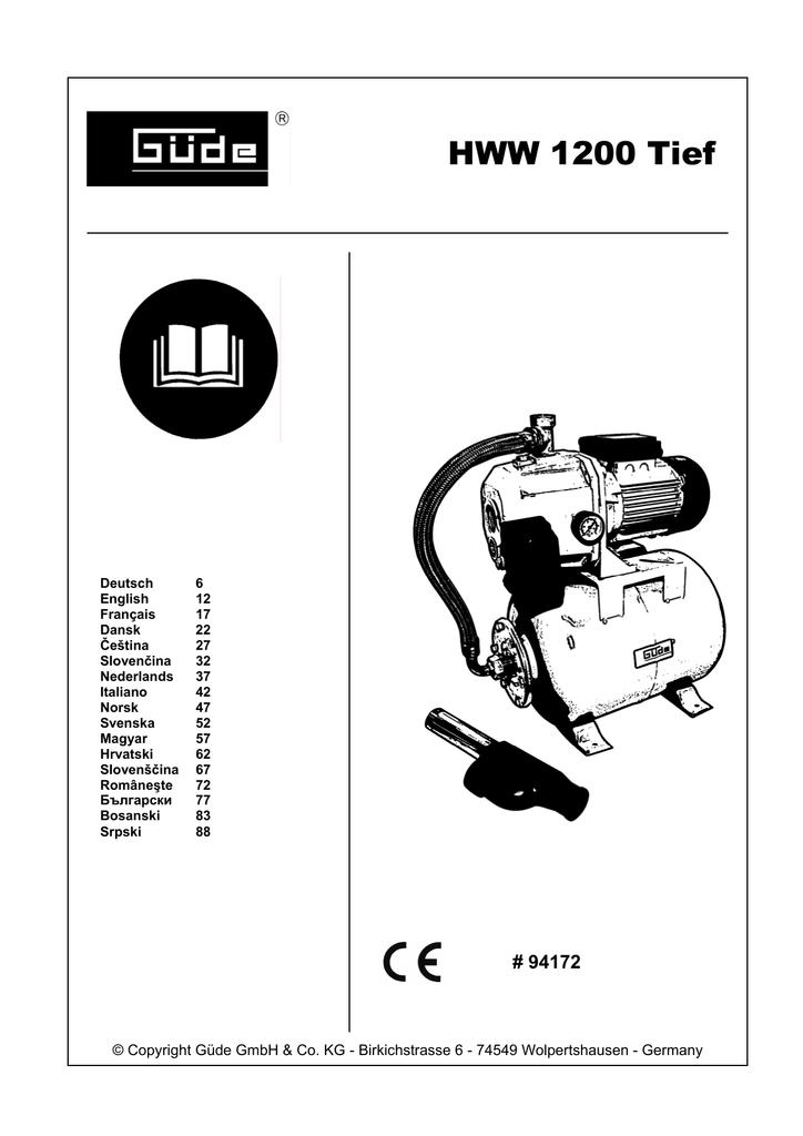 Güde Gartenpumpe JG 1000 E