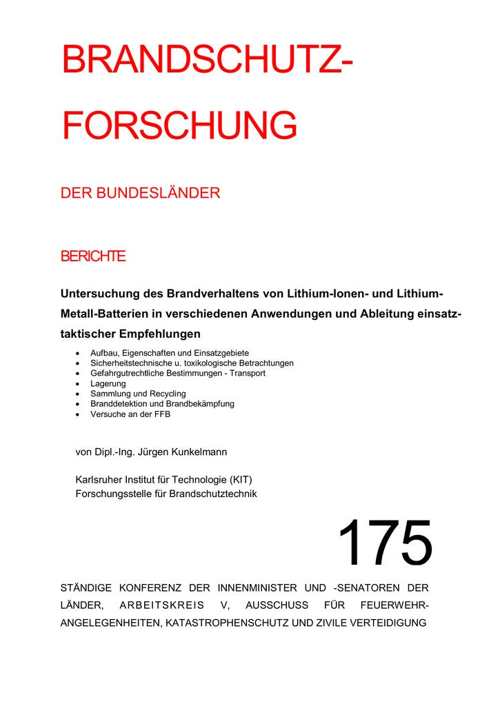 175 - bei der Forschungsstelle für Brandschutztechnik   manualzz.com