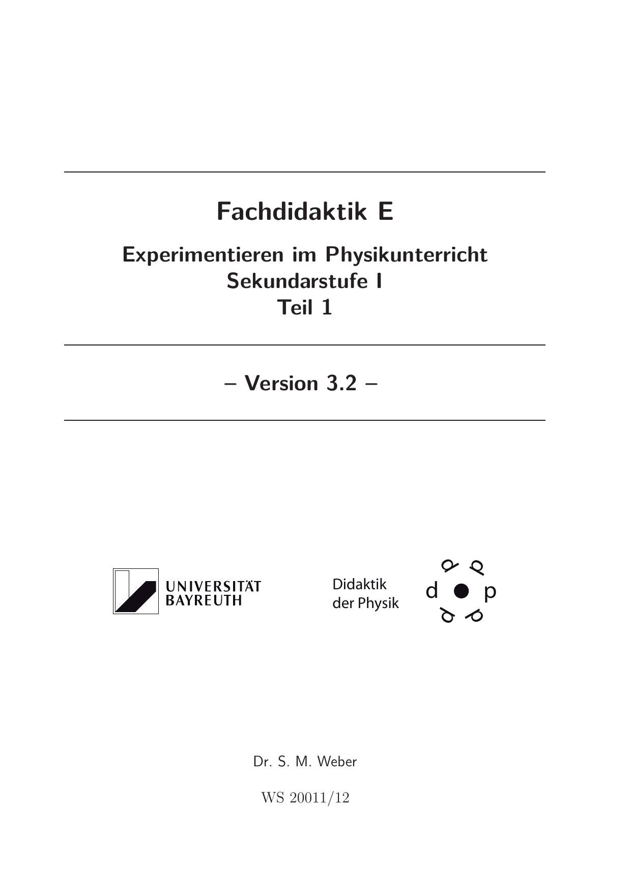 Teil 1 - Didaktik der Physik! | manualzz.com