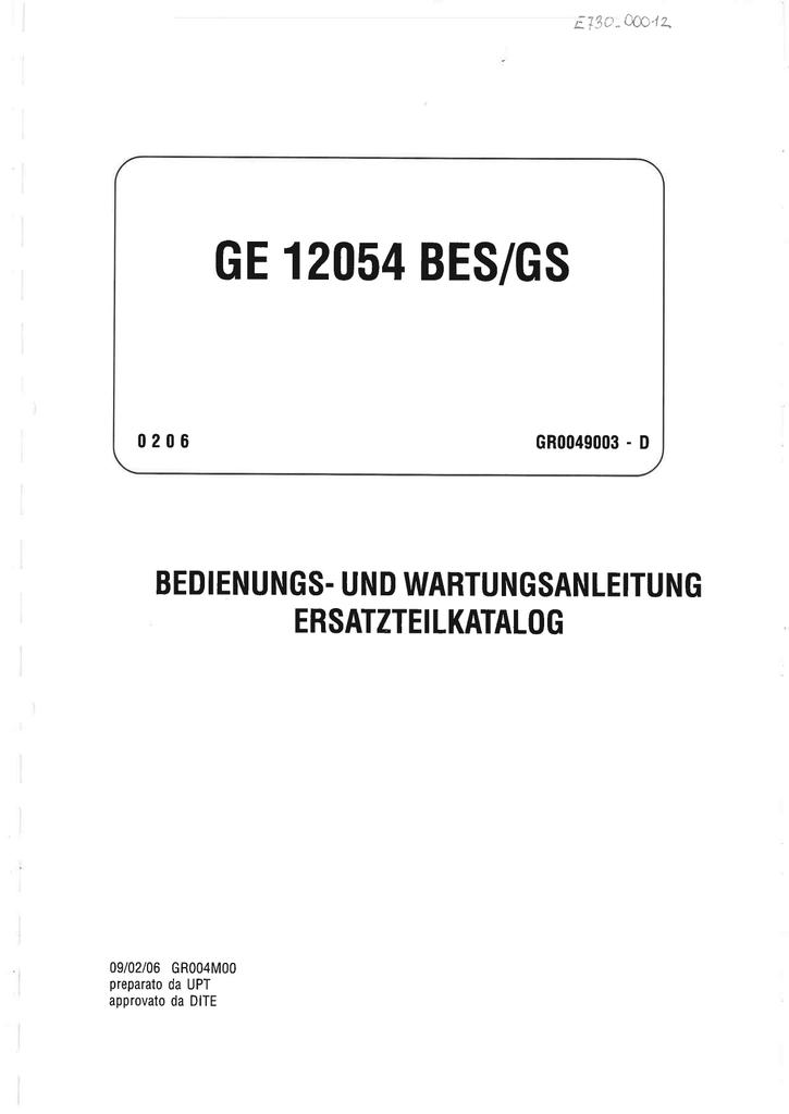 GE 12054 BES/GS | manualzz.com