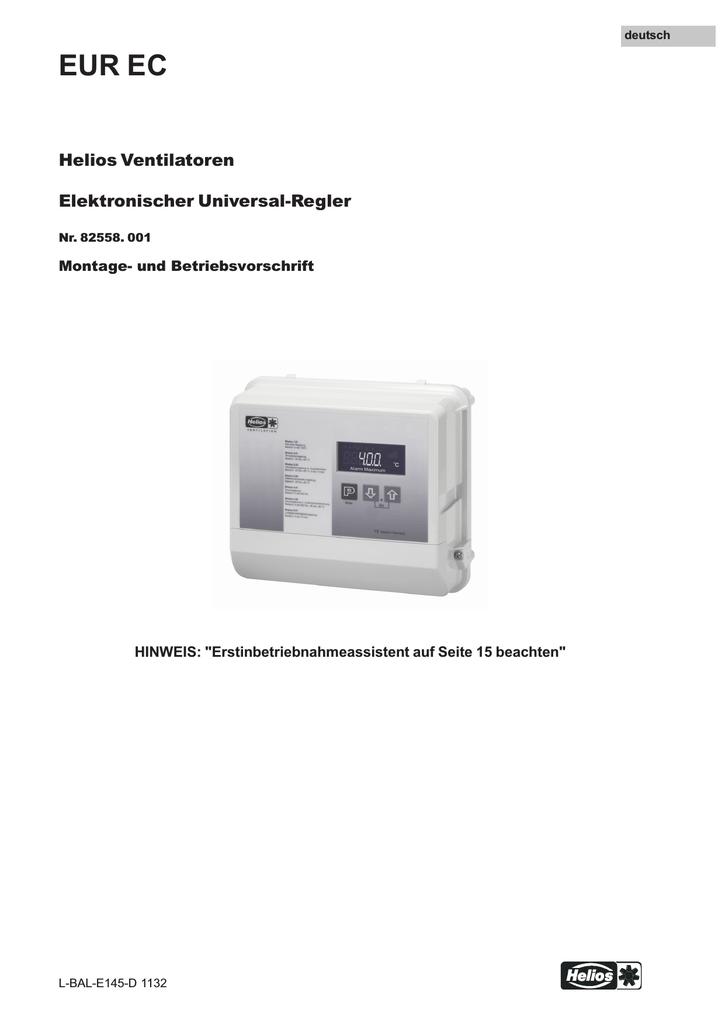 Häufig EUR EC - HELIOS Ventilatoren | manualzz.com LE61