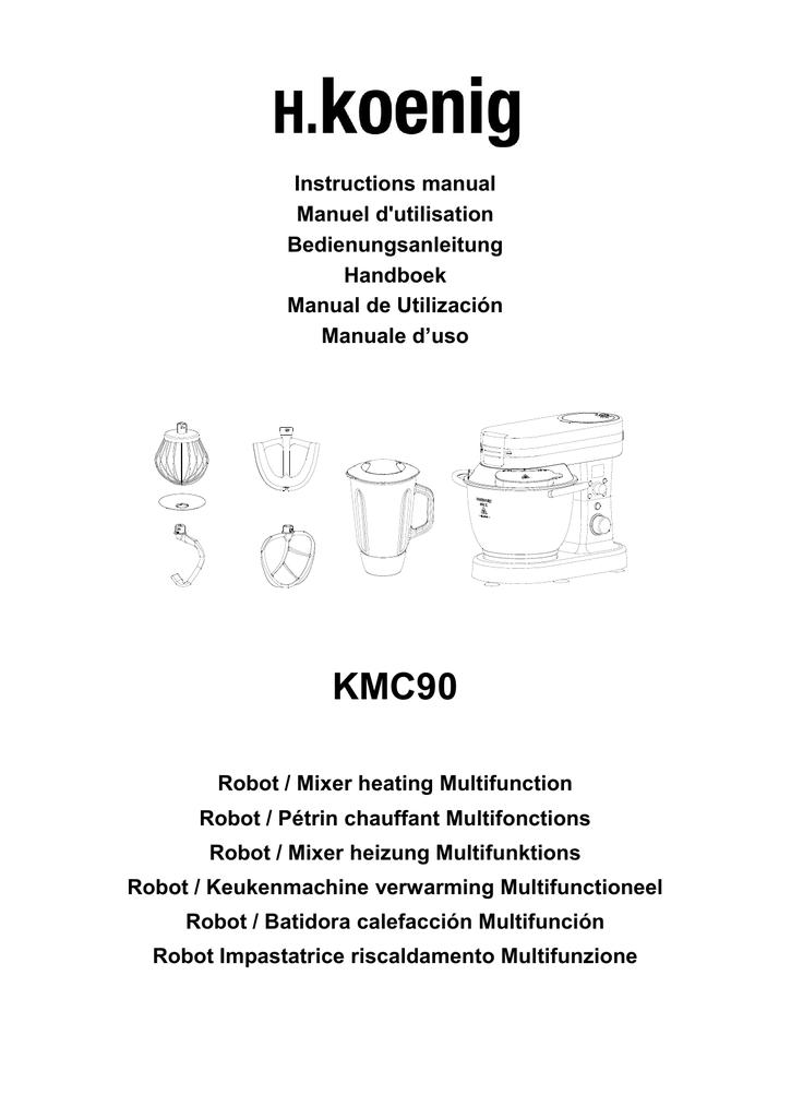 H.Koenig KMC90 Robot P/étrin Chauffant