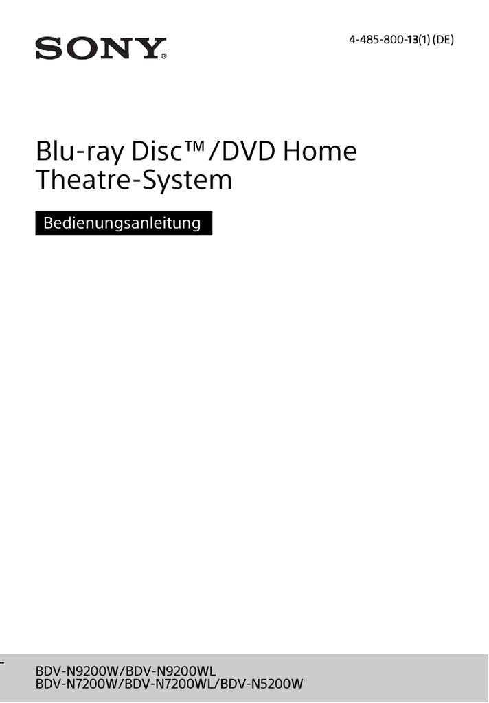 BDV-N7200W - Sony Europe | manualzz.com