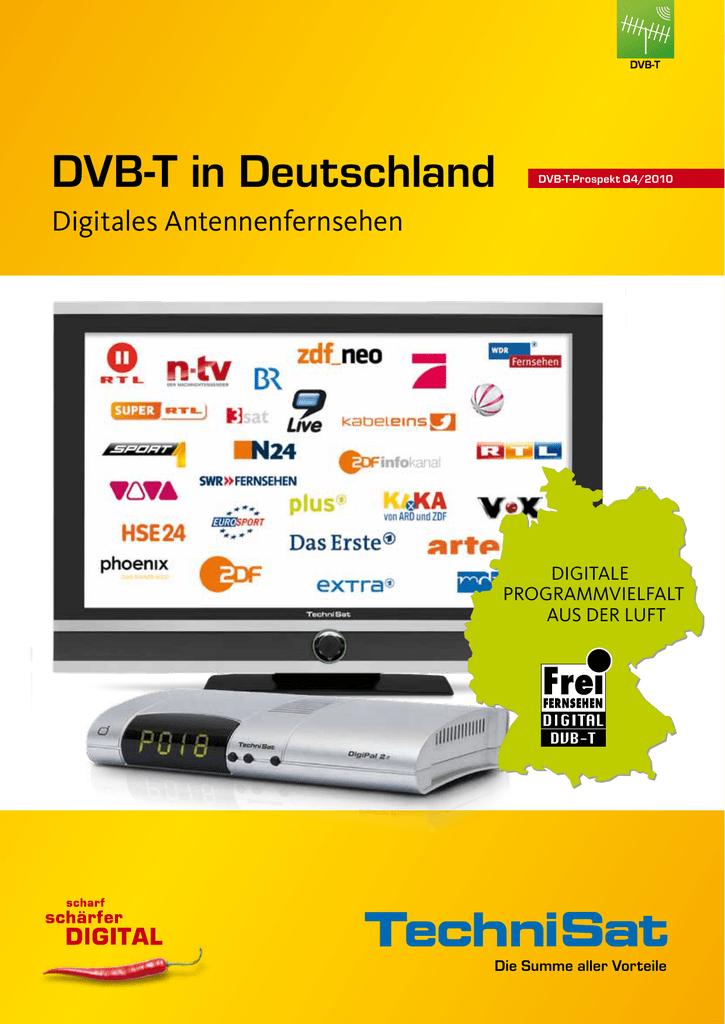 HDMI, 2X Scart-Anschl/üsse, USB 2.0 TechniSat DiGYBOXX T4 DVB-T Receiver schwarz